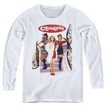Clueless Womens Long Sleeve Shirt Movie Poster White Tee