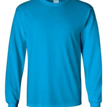 Gildan 2400 Ultra Cotton™ Long Sleeve T-Shirt (Sapphire / S)