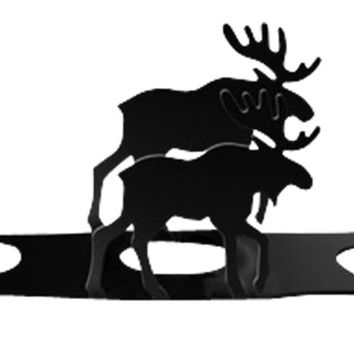 Wrought Iron Moose Wine Glass Holder