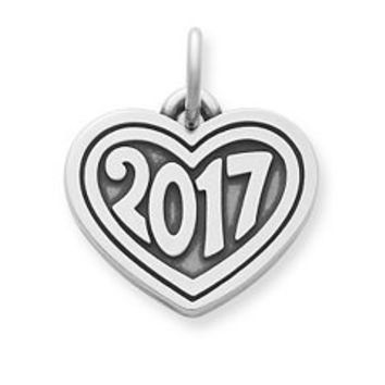 "Heart with ""2017"" Charm 