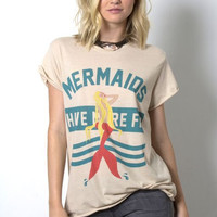 The Laundry Room Mermaids Have More Fin Tee - Nude