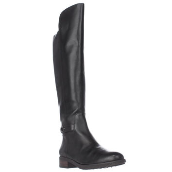 Coach Emmie Tall Turnlock Boots, Black, 6.5 US