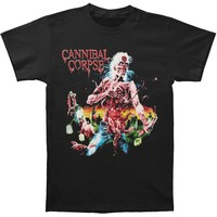 Cannibal Corpse Men's  Eaten Back to Life T-shirt Black