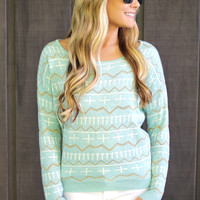 Unforgotten Voyage Sweater - Mint
