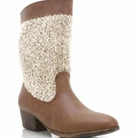 leather-boots CHESTNUT TAUPE - GoJane.com