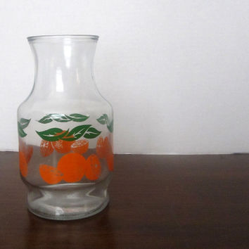 Anchor Hocking Orange Juice Pitcher / Carafe - Vintage Breakfast Table