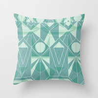 Nordic Combination 34 Throw Pillow by Mareike Böhmer Graphics