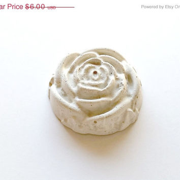 On Sale Concrete Rose, Valentines Rose, Rose Paper Weight, Unique Table Decor, Place Card Holder, White rose garden accent, Gifts of Love