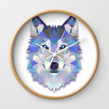 Colorful Wolf Wall Clock by Smyrna