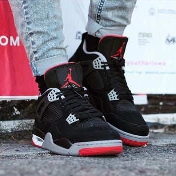 "Air Jordan 4 ""Bred"" AJ4 Retro Sneakers - Best Deal Online"
