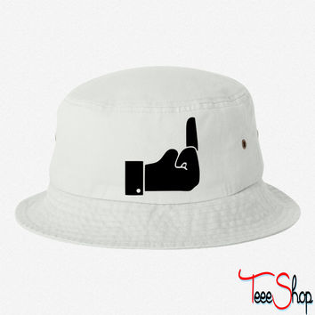 Like Middle Finge bucket hat