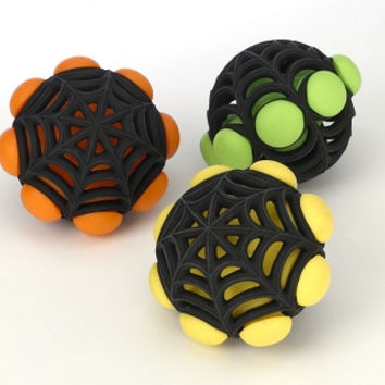 JW Pet Arachnoid Tough Rubber Ball Dog Toy 5""