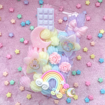 Kawaii Rainbow Decoden Phone Case for Samsung Galaxy Note 4
