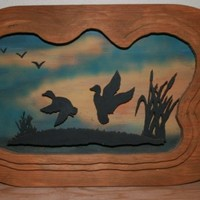 wall hanging duck silhouette of ducks flying over a by rocksntwigs