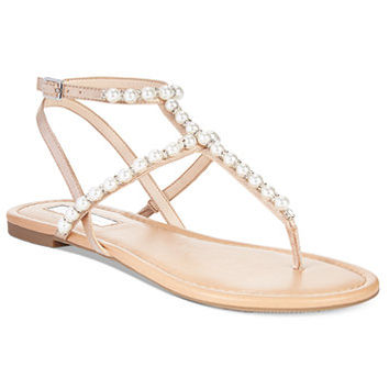INC International Concepts Madigane Embellished Flat Sandals, Only at Macy's | macys.com