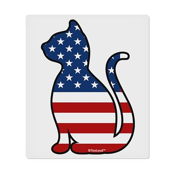 "Patriotic Cat Design 9 x 10.5"" Rectangular Static Wall Cling by TooLoud"
