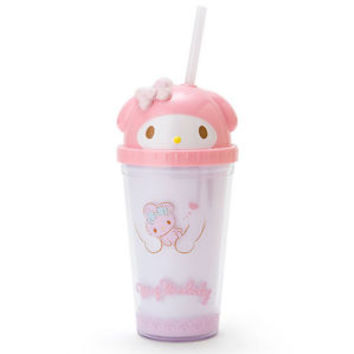 My Melody Face Straw Tumbler Clear Cup ❤ Sanrio Japan