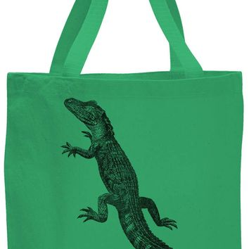 Austin Ink Apparel American Alligator Cotton Canvas Tote Bag