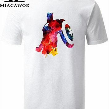 PEAPYV3 Moe Cerf Men T Shirt Captain America Civil War Tee 3D Printed T-shirts Men Marvel Avengers 3 iron man Clothing Male Tops