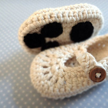 Polar Bear Paw Baby Booties
