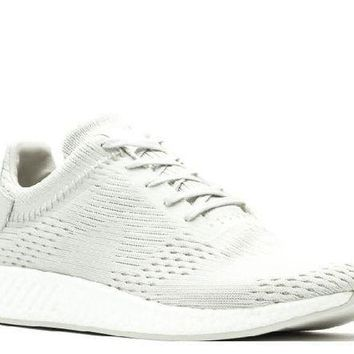 PEAPN Ready Stock Adidas Nmd R2 Wings + Horns Ash Off White Sport Running Shoes