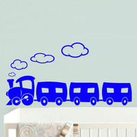 Wall Vinyl Sticker Decals Decor Art Bedroom Design Mural Nursery Kids Baby Train Magic (z518)