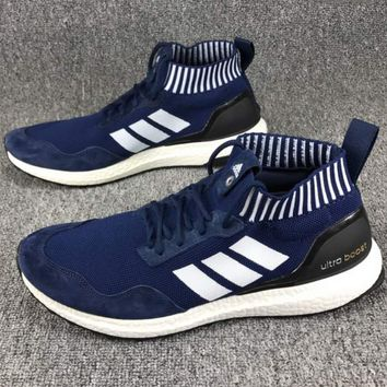 ADIDAS Ultra Boost Mid Knit Top Retro Sneakers F-CSXY blue