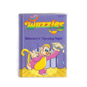 Vintage Wuzzles Book, Rhinokey's Opening Night, 80s Cartoons, Rhino Monkey, Cartoon Illustrations, Kids Books