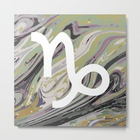 Capricorn Metal Print by KJ Designs