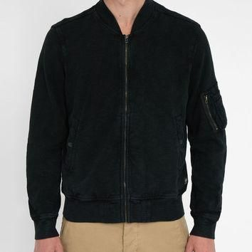 DENIM & SUPPLY RALPH LAUREN Black Wash Cotton Bomber Jacket for men | Menlook