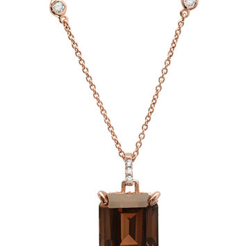 CZ Emerald Cut Necklace