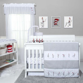 Trend Lab The Cat in the Hat Comes Back 4 PC Baby Nursery Crib Bedding Set New