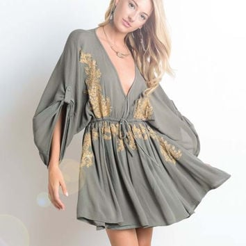 Golden Sage Dress