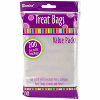 "Walmart: Treat Bags, 3.75"" x 6"", 200-Pack, Clear"