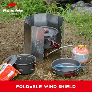 Naturhike Windshield Ultralight Outdoor 8 Plate Foldable Wind Shield Camping Stoves Cooker folding light wind guard windproof