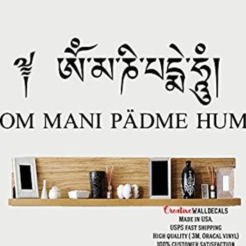 Wall Decal Vinyl Sticker Decals Art Decor Design Ohm Om Mantra Quote Sign Sumbol Indidan Yoga studio Buddha Shiva God Bedroom (r676)