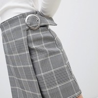 Weekday Check Mini Skirt at asos.com
