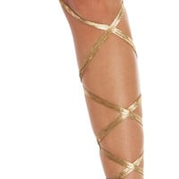 Velvet Rave Leg Wraps | Gold