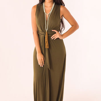 Easy To Love Maxi in Olive