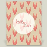 02 Hello Love Art Print by bablom on BoomBoomPrints