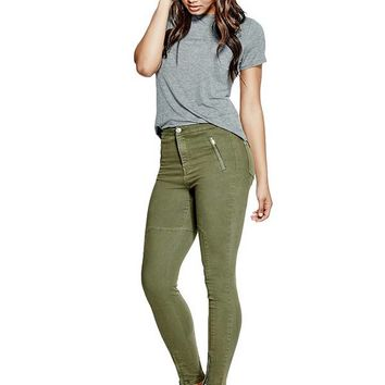 High-Rise Jeggings at Guess