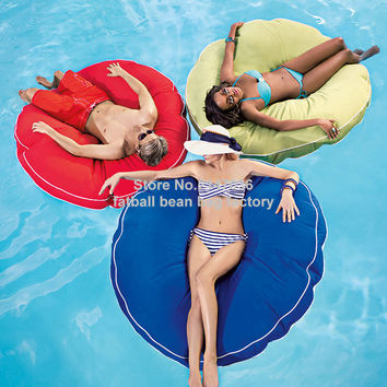 Island design bean bag float chair, outdoor round beanbag seat furniture , Large cuddle bean cushion set