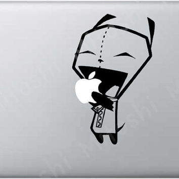 Gir Eating Apple Vinyl Macbook Decal by Mitoshi on Etsy