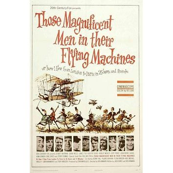 Those Magnificent Men In Their Flying Machines Movie poster Metal Sign Wall Art 8in x 12in