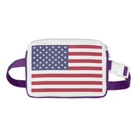 Patriotic Fanny Pack with Flag of USA.