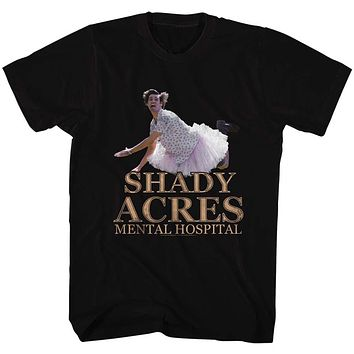 Ace Ventura Tall T-Shirt Pet Detective Shady Acres Mental Hospital Black Tee