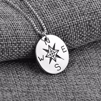 True North Compass Necklace