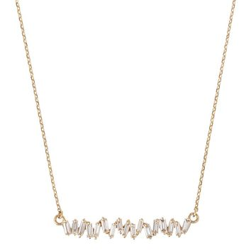 Suzanne Kalan Yellow Gold Diamond Baguette Necklace | Harrods.com
