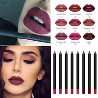 New and Boxed New Arrivals 9 Colors Makeup Lip Liner Beauty Contour Matte Huda Pencil Lipliner Sexy Cosmetics All Shades Brand