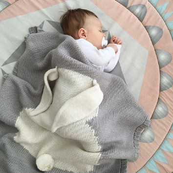 Newly Hot Baby Blanket Sleepers Rabbit Knitting Blanket Bedding Quilt Play Blanket Sleepers For Baby
